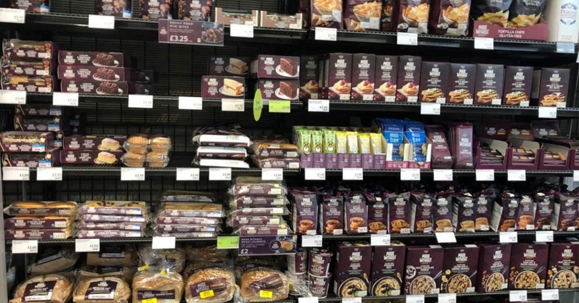 M&S Food Gluten Free section