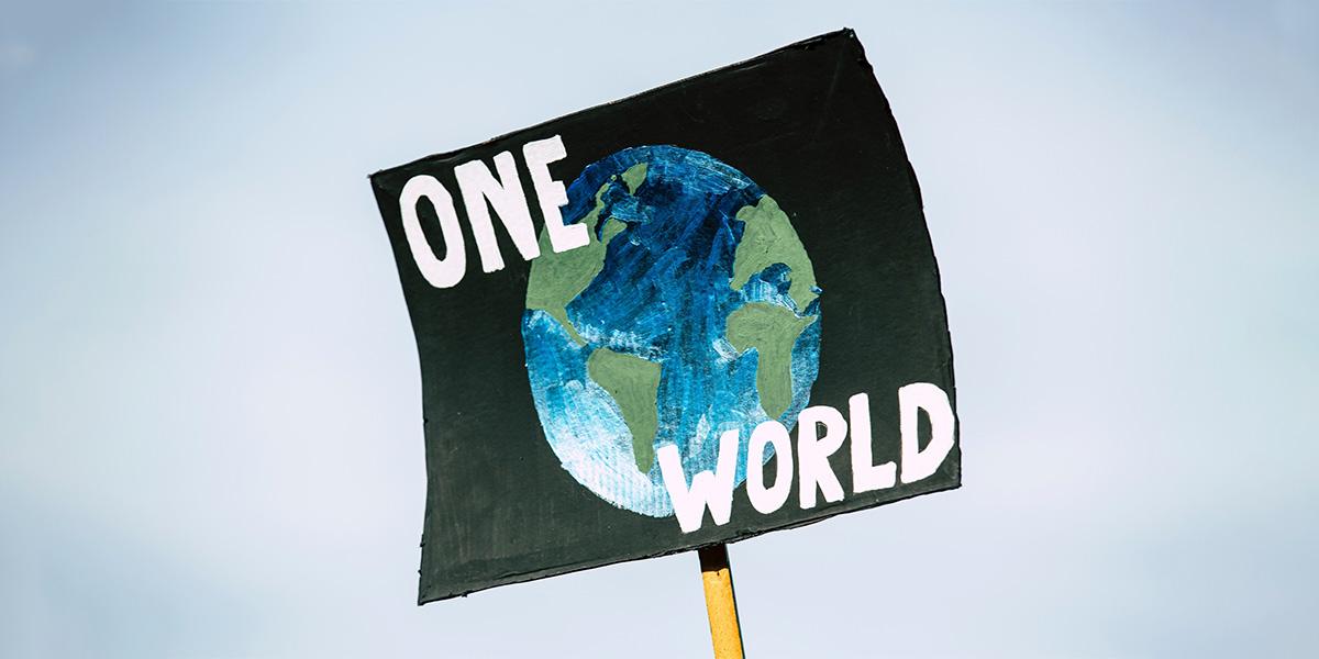 One world flag