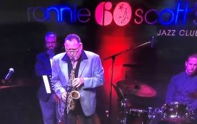 Ronnie Scott's jazz saxophone player