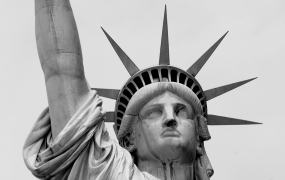 Statue of liberty grey